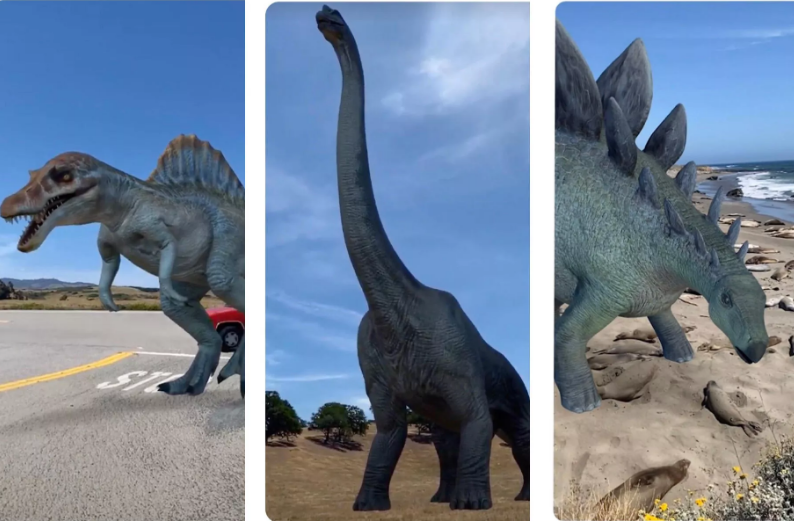 Google inserts AR dinosaurs in your search